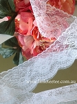 Non-stretch Lace - 6cm wide white. 1mtr