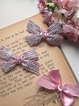 Glimmer bows - dusty pink x1