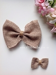 Hessian/Jute bows. Small or Large