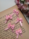 Petite Ribbon Bows x 5. Purple