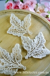 Cotton leaf motif x 1. Beige