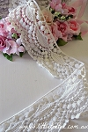 Non-stretch embroidered lace. 6.5cm wide. 1mtr