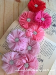 Shabby chiffon flower embellishments. x 1 (New)