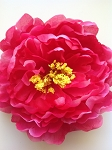 Artificial Flower - Hot Pink Peony. 15cm. x1