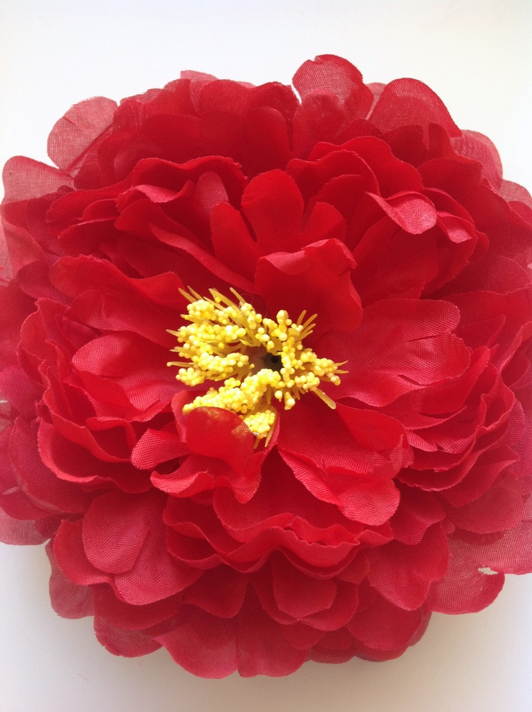 Artificial Flower - Red Peony  15cm  x1Red Peony Flower