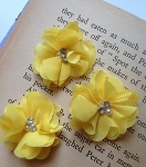 Yellow fabric flowers. 2.5