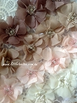 Neutral colours! Small beaded flower. x1