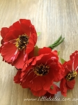 Synthetic Poppies. x 6 stems Red