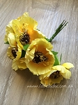 Synthetic Poppies. x 6 stems Yellow