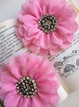 Empress beaded flower x 1. Pink