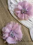 Flower & lace embellishment x1. Pastel Purple