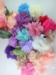 10 x Mixed colours -Fabric peony flowers.