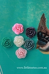 Resin embellishment - roses x 10. 19mm