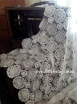Non-stretch.  Crochet doily lace. Double-edged. 125cm x .5mtr
