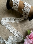 Non-stretch White cotton lace - 3.5cm wide. 1mtr