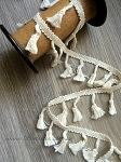 Cotton drop-tassel fringe. 4.8cm