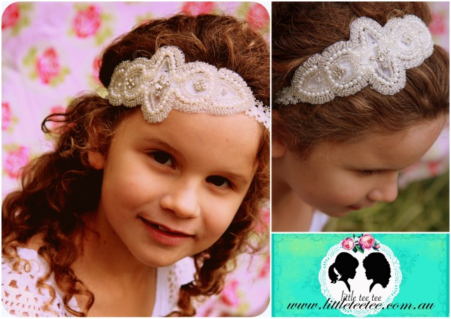 Little Tee tee pearl headband