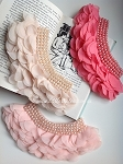 IMPERFECT Ruffles and pearls applique. x1