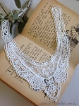 IMPERFECT 'Lacey Lou' embroidered neck trim x 1. white