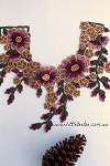 Embroidered flower collar x1