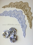 Flutter sleeves. Sparkling Silver. x 2 pcs