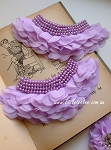 Ruffles and pearls applique. x1. Lilac