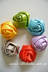 Satin rolled roses. 4cm. x 1
