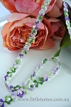Embroidered lavender flower trim.0.8cm