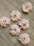 Petite flower pair. 3cm. Fairy floss pink