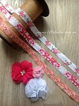 Fold over elastic. x 2mtrs floral