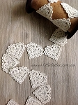 10 x Cotton hearts. Natural