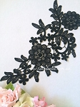 Lace applique. Black. 26cm