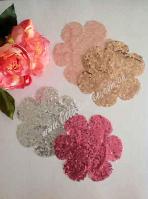 Sequin flower patches. x 1