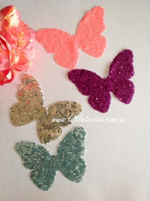 Sequin butterfly patches. Set of 2